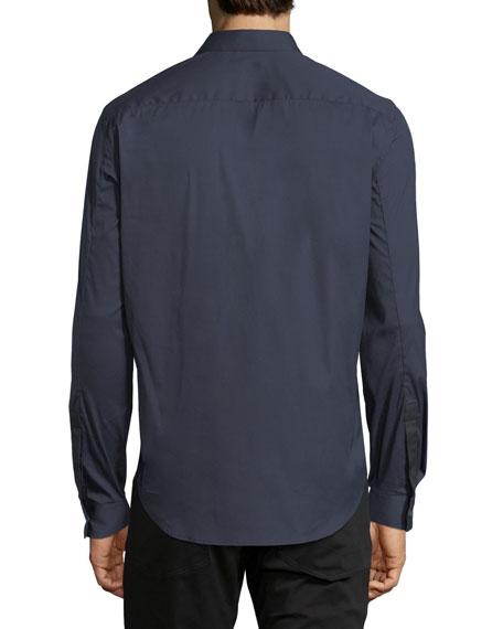 Sullivan Wealth Contrast-Placket Sport Shirt