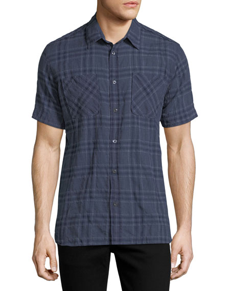 Clarence Plaid Cotton Shirt