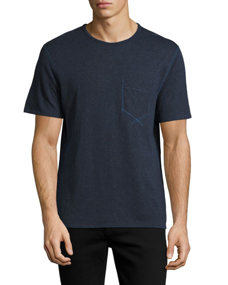 Billy Reid Reversible George T-Shirt, Ink Blue (Navy)