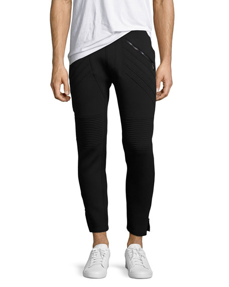 Neil Barrett Neoprene Biker Sweatpants, Navy