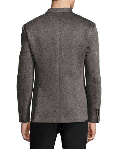 Modernist-Stripe Sport Jacket, Gray