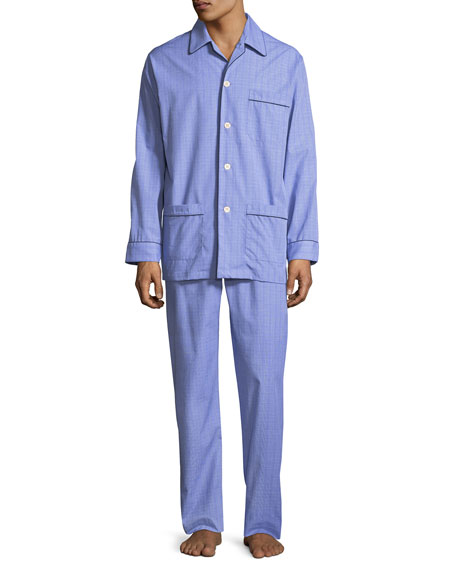 Derek Rose Glen Check Cotton Pajamas, Multi