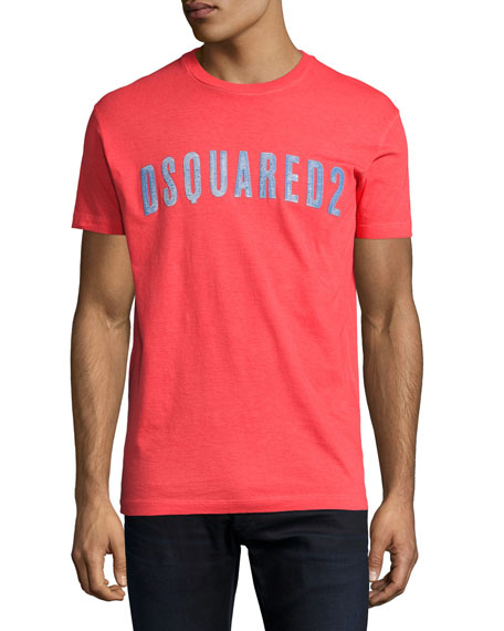 Dsquared2 Faded Logo Graphic T-Shirt, Red