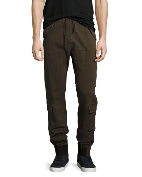 Hudson Men's Flight Cargo Pants, Olive