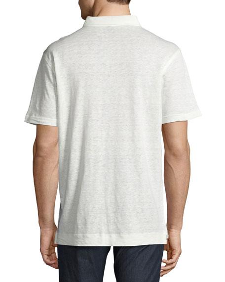 Summertime Linen Polo Shirt, White