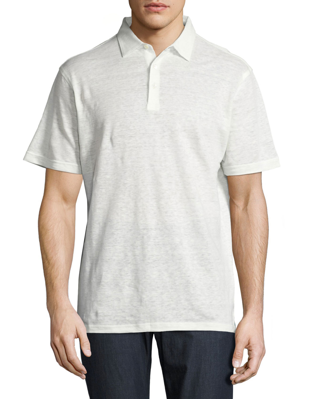 Peter Millar Summertime Linen Polo Shirt White Neiman Marcus