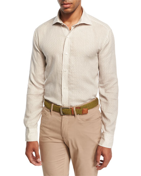 Peter Millar Collection Saline Beach Print Sport Shirt,