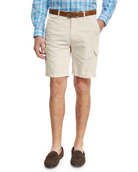 Peter Millar Discovery Cargo Shorts, Beige