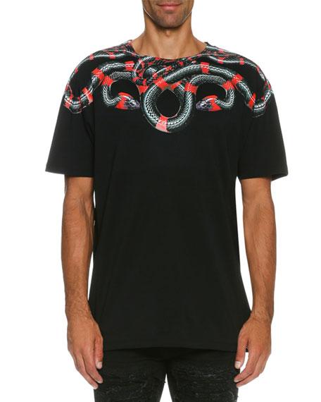 Marcelo Burlon Ruben Snake-Print T-Shirt, Black