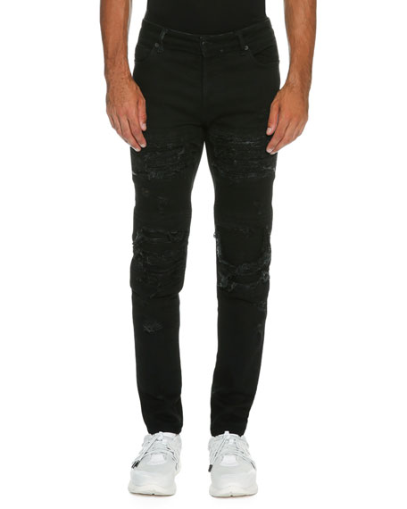 distressed jeans - Black Marcelo Burlon qEWeY