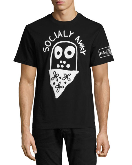 Haculla Socially Awky T-Shirt, Black