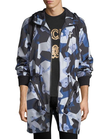 MCM x CR Collection Visetos Jacquard Parka Jacket
