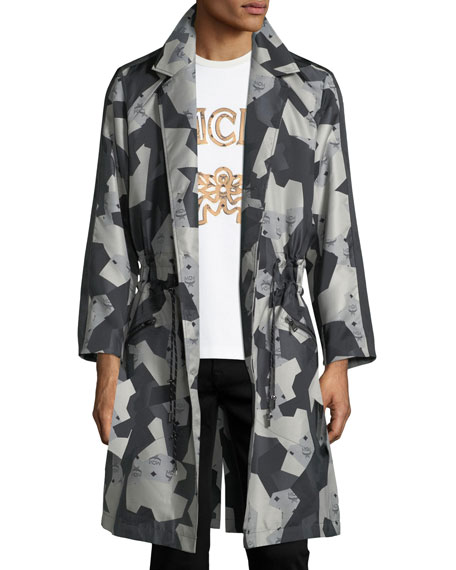 x CR Collection Splinter Camo Visetos Trench Coat