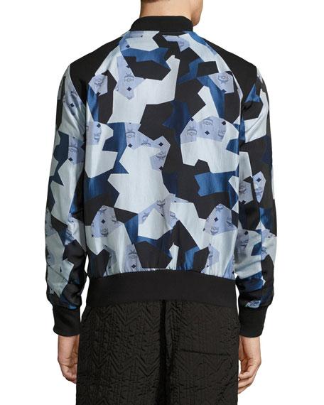 x CR Collection Visetos Jacquard Bomber Jacket, Blue