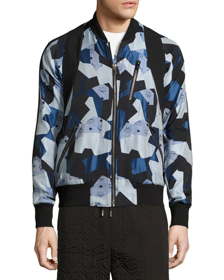 MCM x CR Collection Visetos Jacquard Bomber Jacket,