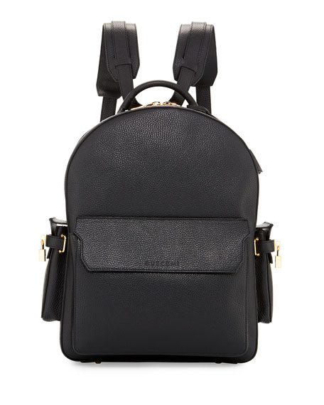 Buscemi PHD Men's Leather Backpack, Black