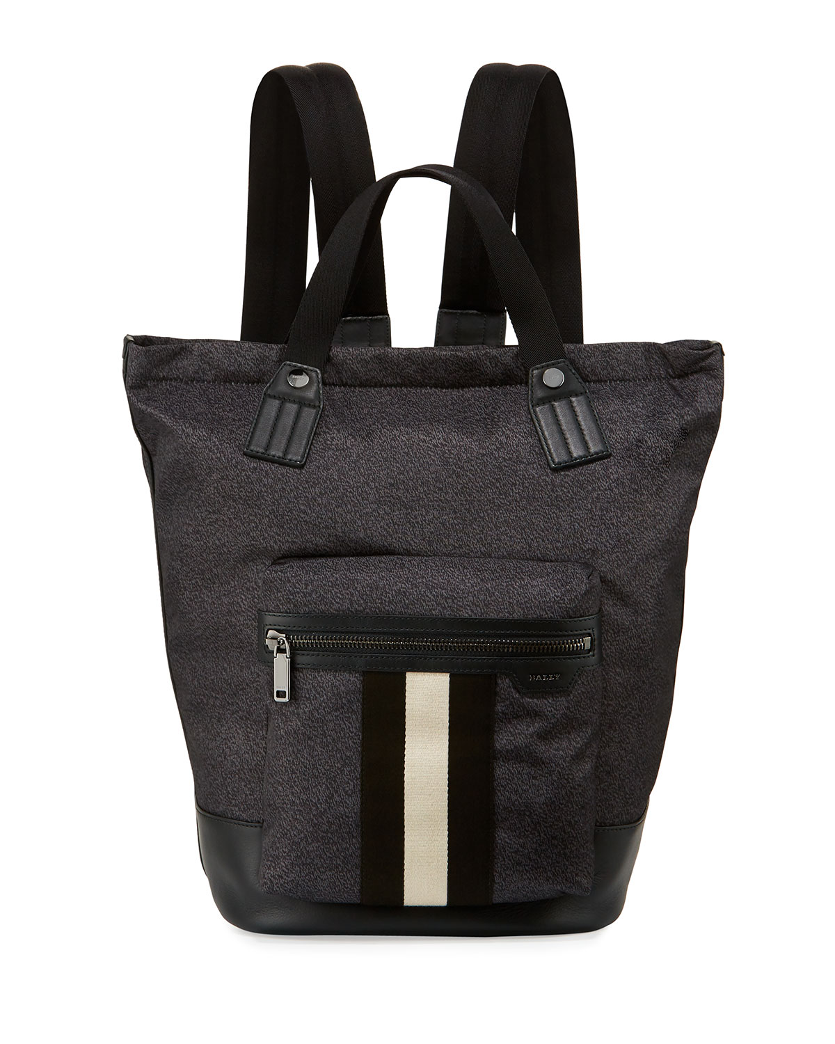 875b06860f Bally Crowley Nylon Tote-Backpack with Bally Stripe