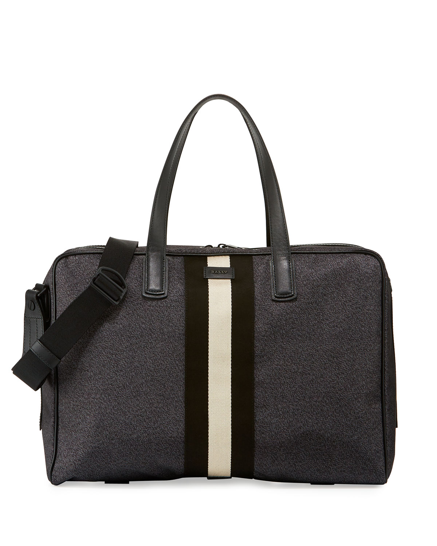 923816c6de2 Bally Keen Men s Nylon Weekender Travel Bag, Black   Neiman Marcus