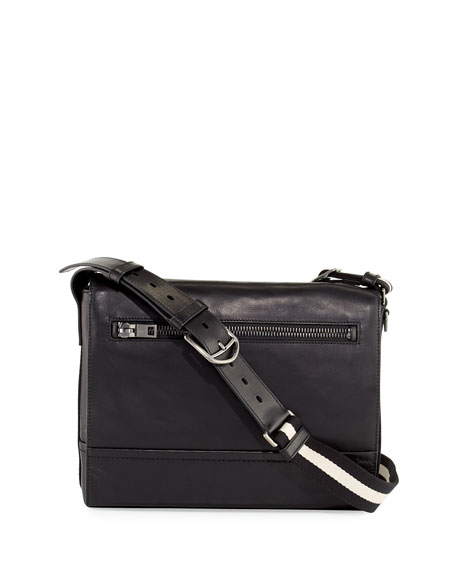 Tamrac Men's Leather Messenger Bag, Black