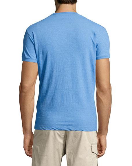 Gothic Logo-Print T-Shirt, Light Blue