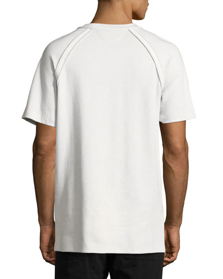 Bound Seam Jersey T-Shirt, Gray