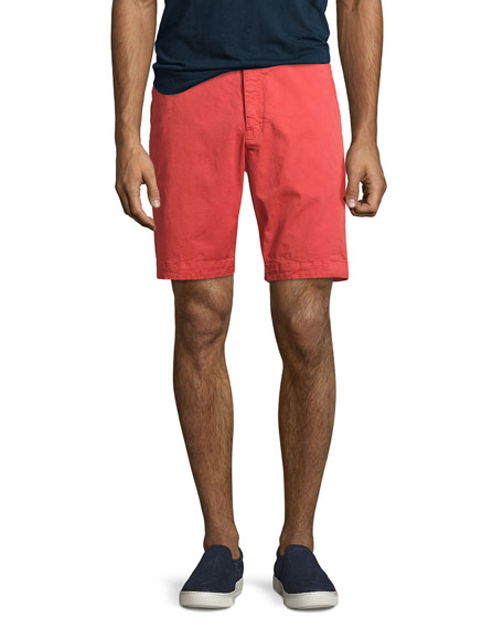 Orlebar Brown Dane 2 Twill Shorts, Pomodoro (Red)