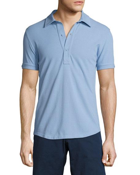 Orlebar Brown Sebastian Tailored Polo Shirt, Blue