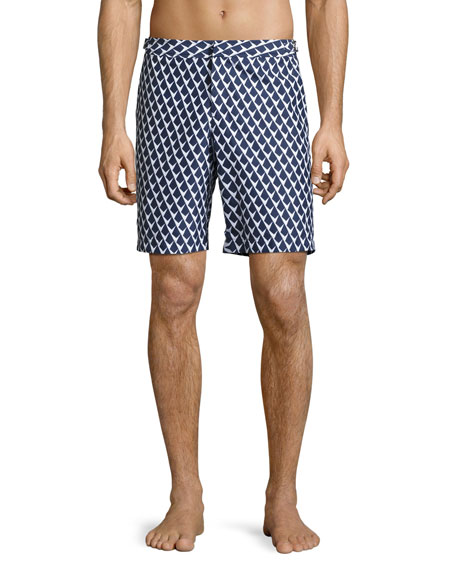 Orlebar Brown Dane 2 Graphic Swim Trunks, Navy