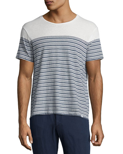 Sammy Breton Striped T-Shirt, Blue/White