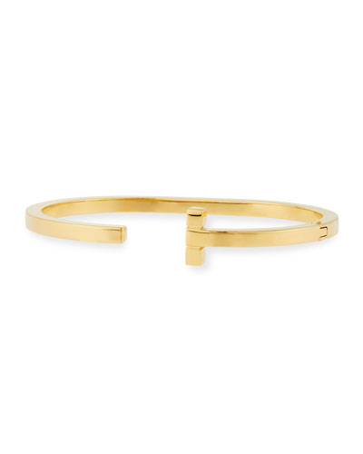 Men's T Cuff Bracelet, Golden
