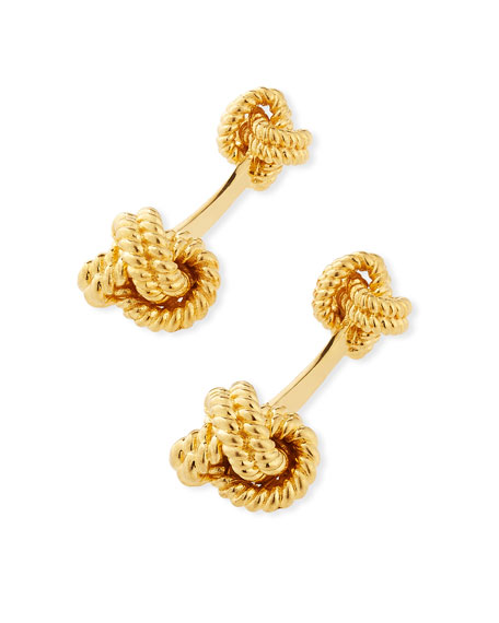 TOM FORD Twisted Knot Cuff Links, Golden