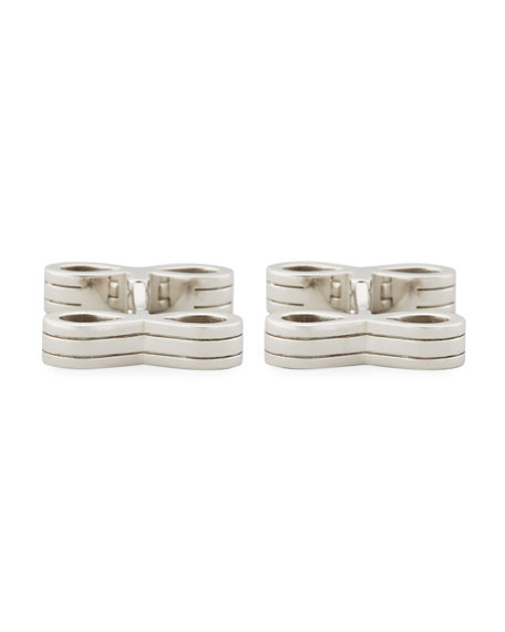 TOM FORD Sterling Silver Infinity Bar Cuff Links