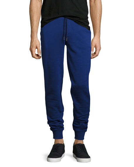 Moncler Drawstring Jogger Sweatpants, Navy