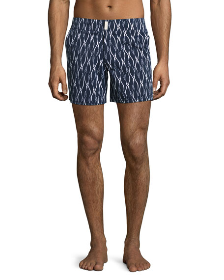 Vilebrequin Superflex Emperor Penguins Merise Swim Trunks, Navy