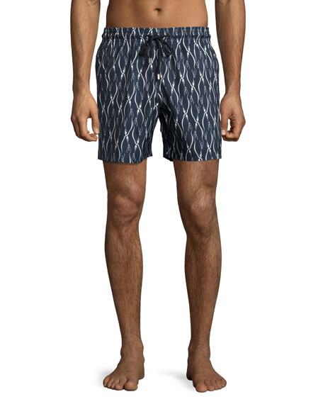 Vilebrequin Mahina Penguin Swim Trunks, Navy