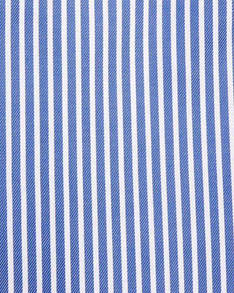 Bold-Stripe Dress Shirt, Blue/White