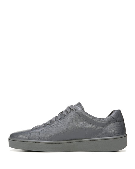 Slater Leather Low-Top Sneaker, Gray