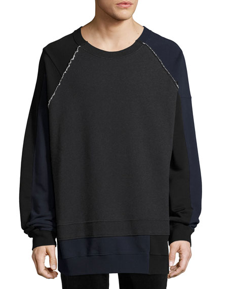 Maison Margiela Mélange Colorblock Sweatshirt, Dark Gray