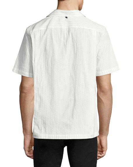 Glenn Short-Sleeve Cotton Bowling Shirt, White