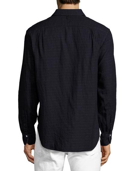 Double-Gauze Cotton Beach Shirt, Indigo