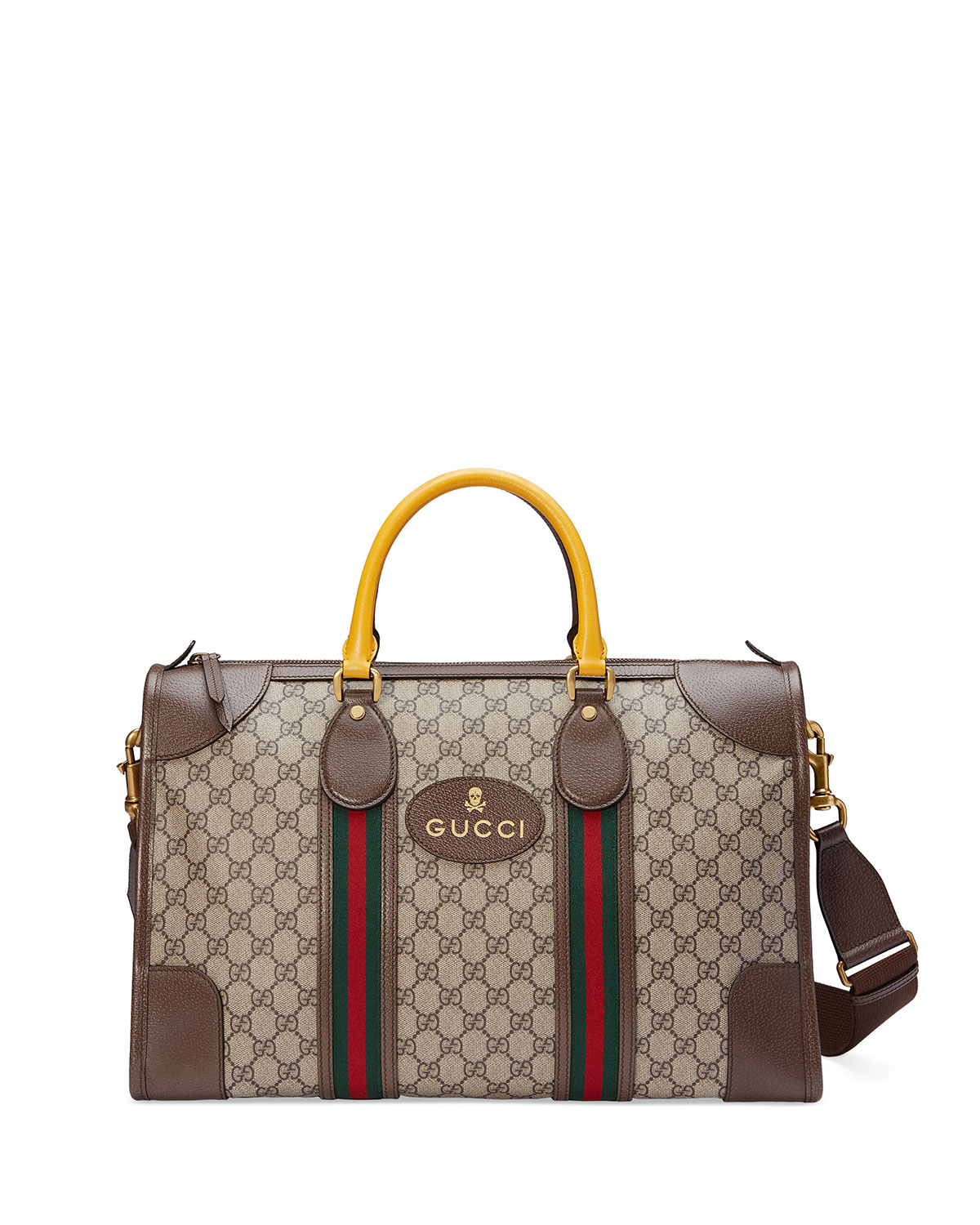 1aee8b60e89 Gucci Soft GG Supreme Duffel Bag with Web