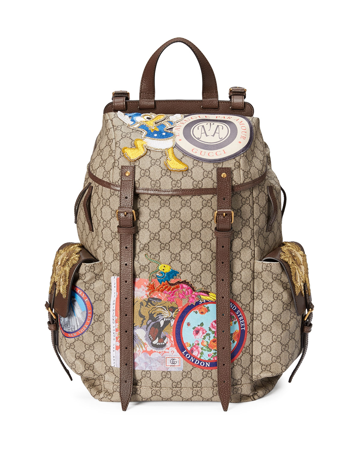b4be4ac3355 Gucci Soft GG Supreme Backpack with Patches