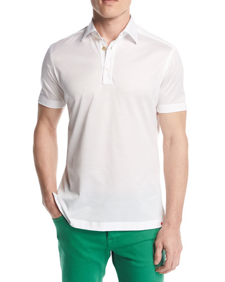 Classic Cotton Polo Shirt, White