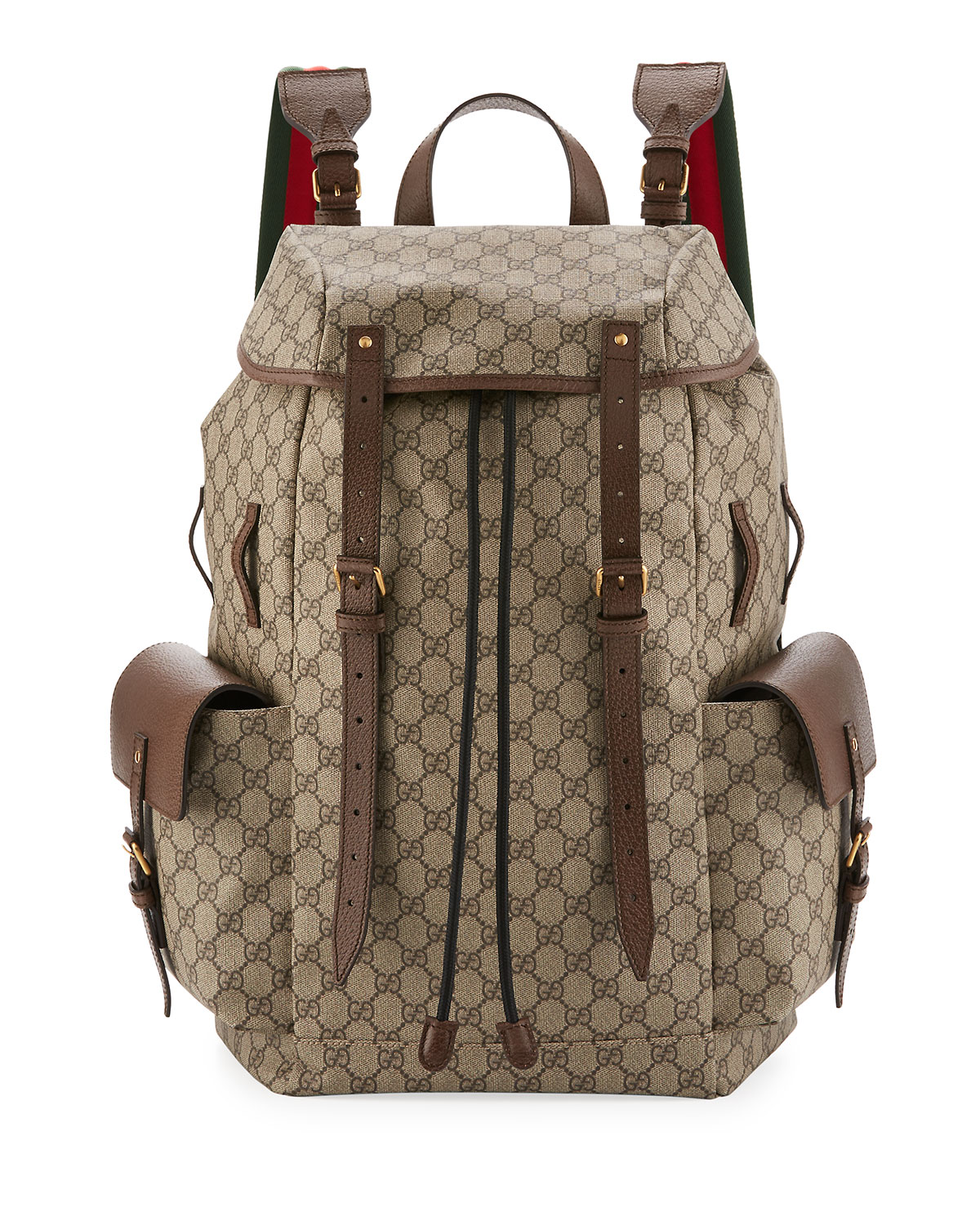 227380a0b15 Gucci Soft GG Supreme Men s Backpack with Web Straps