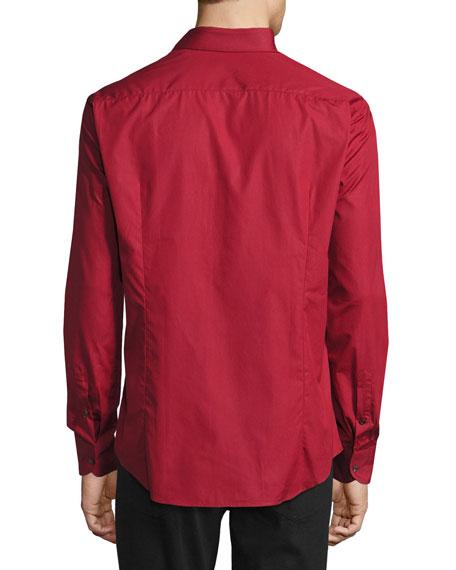 Men's Classic Cotton Sport Shirt, Red