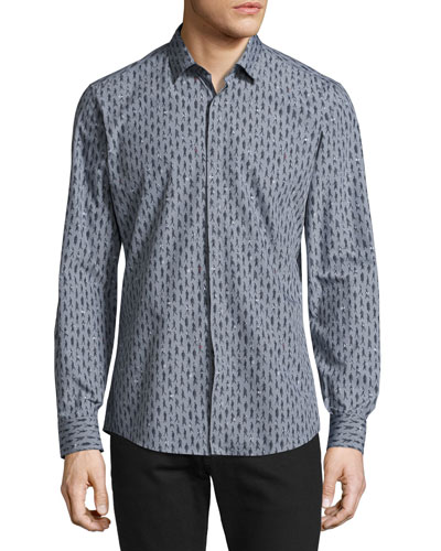 Passerby Cotton Sport Shirt, Gray