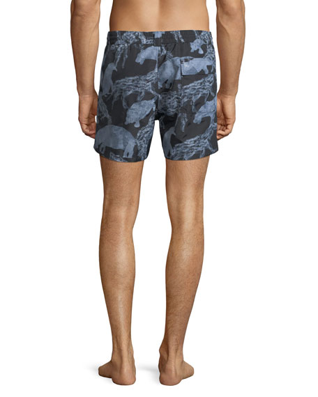 Men's Safari Animals Swim Trunks
