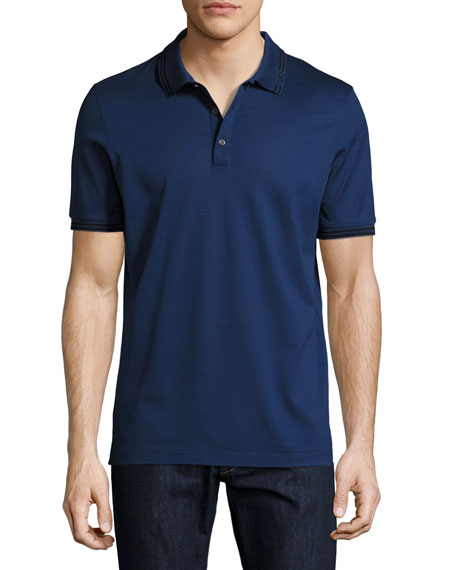 Salvatore Ferragamo Cotton Piqué 3-Button Polo Shirt with