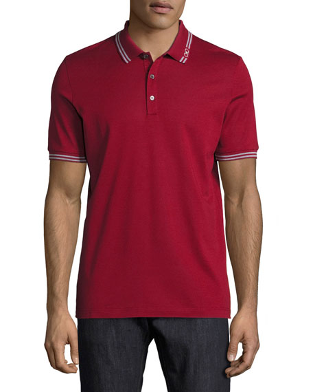 Salvatore Ferragamo Cotton Piqu?? 3-Button Polo Shirt with