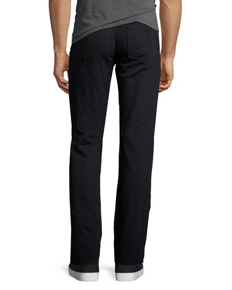 Kane Cotton-Linen Straight-Leg Jeans, Helio